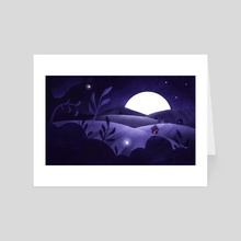 moon - Art Card by Cloudy day