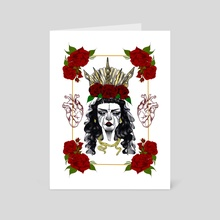 Queen of Hearts - Art Card by Arianna Parker-Lewis