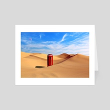 Desert Phone - Art Card by Agit Akbulut