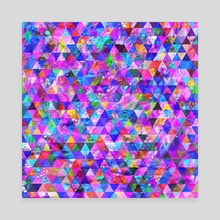 Geometric pattern 2b - Canvas by Luiza Kozich
