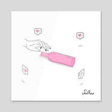spin the bottle - Acrylic by sad alex