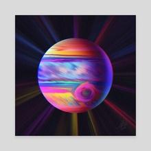 80's Jupiter - Canvas by Juan Carlos Guzmán
