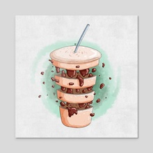 Coffee - Acrylic by AD
