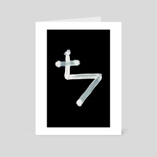Alchemical Symbols - Lead Three Inverted - Art Card by Wetdryvac WDV