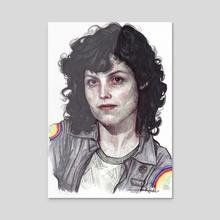 Ellen Ripley - Acrylic by Rebeca Puebla