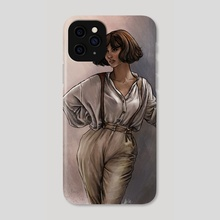 She's Got Moxy - Phone Case by Ariel Burgess