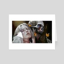 Akio Skull - Art Card by Anastasia Su