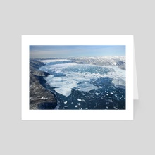 GLACIAL LAKE MISSOULA - ICE DAM - Art Card by Jared Shear