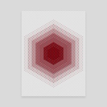 Red Hex - Canvas by Deli Bobs