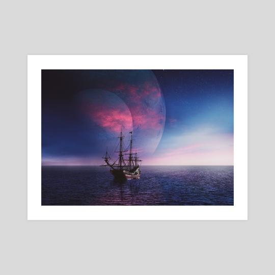 planetary ship ride by trigonal_art