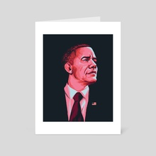 Barack - Art Card by Carlos Basabe