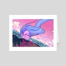 It's okay to cry  - Art Card by Mich Li