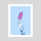 Brain ice cream! mmmmm  - Art Print by Evgenia Chuvardina
