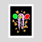 Sugar Rush - Art Print by Maverick Chavaria & Cecilia Salisbury