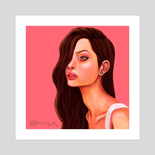 Long Haired Girl by Rabiâ El Mouden