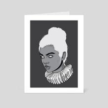 Gray lady - Art Card by Roland Bánrévi