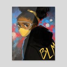 Black Lives Matter - Acrylic by Geneva Bowers