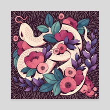 Floral Snake - Canvas by Cleonique Hilsaca