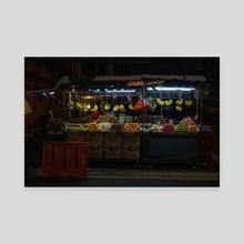 Streets of Kuala Lumpur - Canvas by Hanna Schaff
