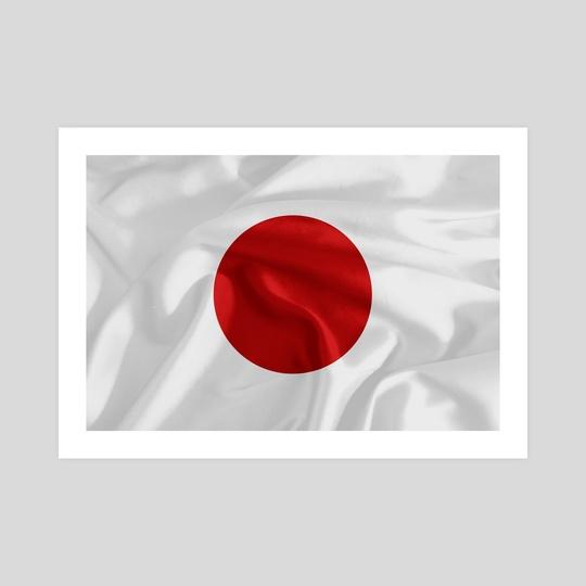 japan flag by Marco Livolsi