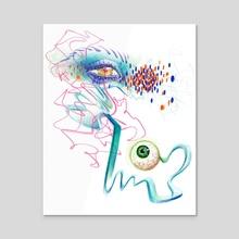 EGOIST - Acrylic by Gabryella  Martinez
