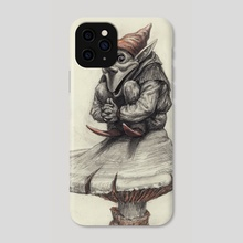 Squating Gnome - Phone Case by Charles Lister