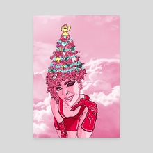 Perfectly Pink Xmas - Canvas by Jahla Brown