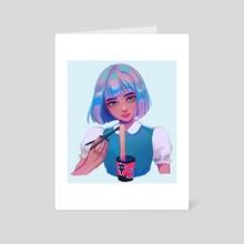 melancholy - Art Card by Cathleen