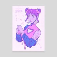 Grape Boba Bae - Canvas by HonHon