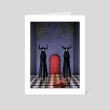 Sisters of the Crimson Door - Art Card by JOSH COURLAS