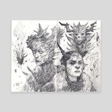 Warlocks In The Woods  - Canvas by Dawn Carlos