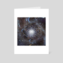 Soul in space. Surreal spiritual artwork - Art Card by Bruce Rolff