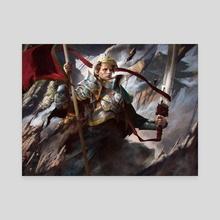 Veteran Warleader - Battle for Zendikar - Canvas by Josu Hernaiz