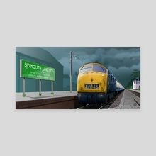 Sidmouth Junction - Canvas by MIKE TURTON