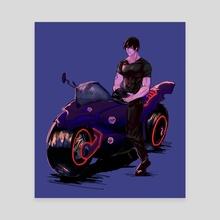 Toji on the bike - Canvas by TeaNmoi