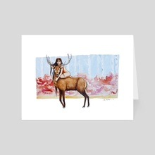 The Girl and the Deer - Art Card by Coty Taboada
