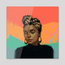tricolor - Acrylic by Zara Jumabai