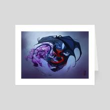 Nightcrawler Dragon - Art Card by Lynton Levengood