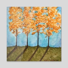 Orange Maples - Acrylic by JENNIFER LIDDICOAT
