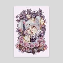 White Rabbit - Canvas by Mili Koey