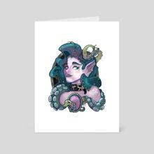 Deep Sea Beauty - Art Card by Gretchen Braun