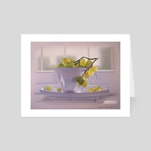 grapes in the cup - Art Card by Katerina Bukuros