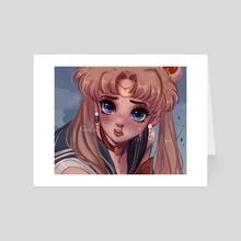 Sailor Moon [Re-draw] - Art Card by Dreachie
