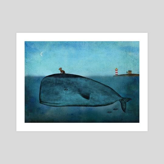 Whale and dog by Oksana Tarasova