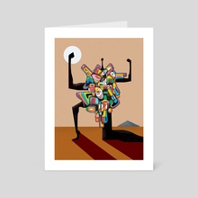 We Strong Pass Virus - Art Card by Afroscope
