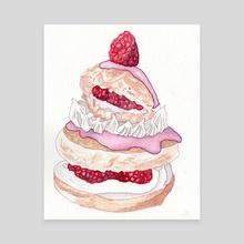 Cake Mountain - Canvas by Amanda Llewelyn-Jones