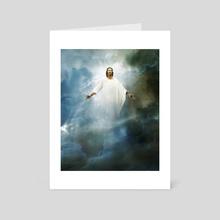 Christian Mythology for Kids - Jesus Rises to Heaven - Art Card by Chris Zakrzewski