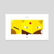 PKMNML #063-065 Abra - Alakazam - Canvas by Matt Vee