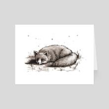 Sleeping Fox - Art Card by Christy Tortland