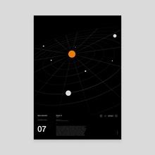 Interstellar series (7) - Pioneer 10 - Canvas by Oli Riches
